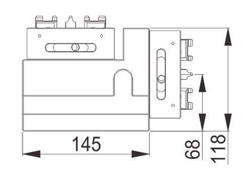 EROWA COMPATIBLE ER-019424 Horizontal & Vertical universal square block Chuck D100