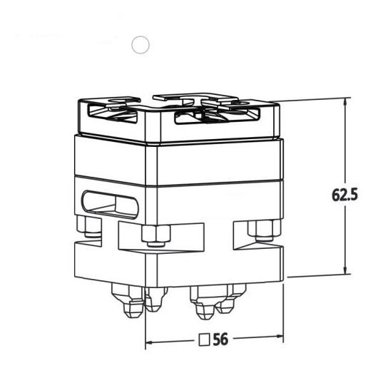 Macro Chuck System 3R to Erowa ITS Adapter