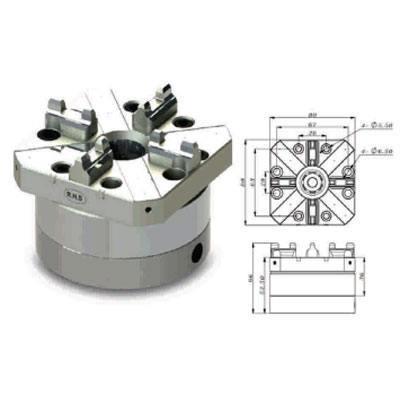 EROWA COMPATIBLE ER-007604 80mm Square Pnuematic Chuck