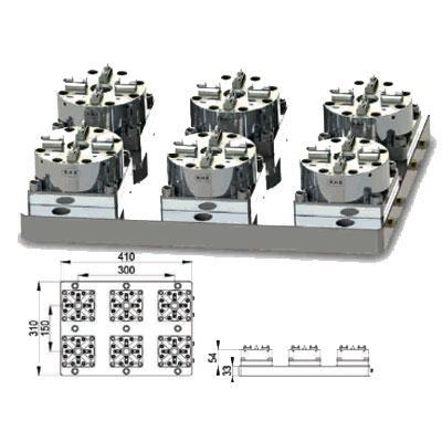 EROWA COMPATIBLE ER-037970 6 IN 1 CNC Pneumatic Chuck D100