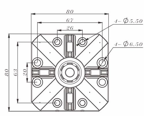 EROWA CNC 80mm Square Pneumatic Chuck ER-007604, ER-007521